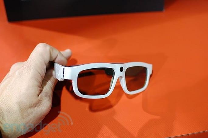 XpanD Youniversal 3D glasses hand & face on