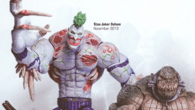 Arkham action figure line includes Titan Joker, Killer Croc and the Bats