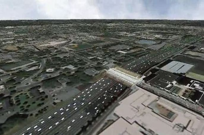 Video: Google Earth animated with real time human and vehicular traffic