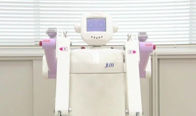 Yurina health care robot promises to help lift, terrify patients