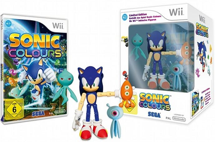 Sonic Colours limited edition speeds to Europe, Australia