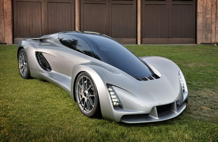 The Blade is a 3D-printed supercar