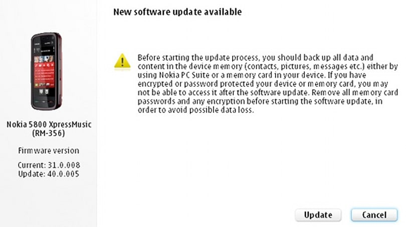Nokia 5800 firmware update adds kinetic scrolling, revised home screen