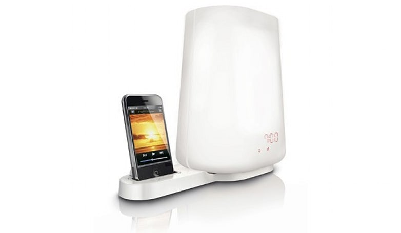 Philips HF3490 Wake-up Light is also a bedside lamp, iPod dock