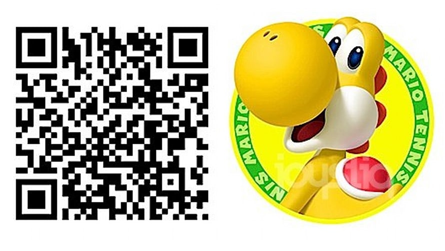 Invite a yellow Yoshi into Qr Code 3ds