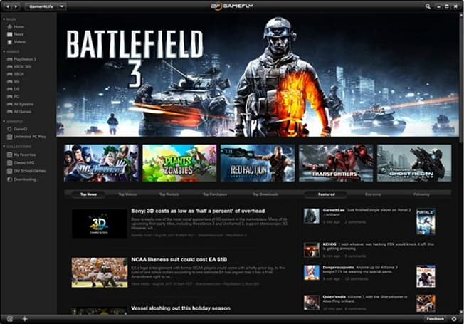 GameFly to add 'Unlimited PC Play' this holiday