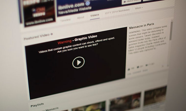 Facebook places warnings, disables auto-play for violent videos