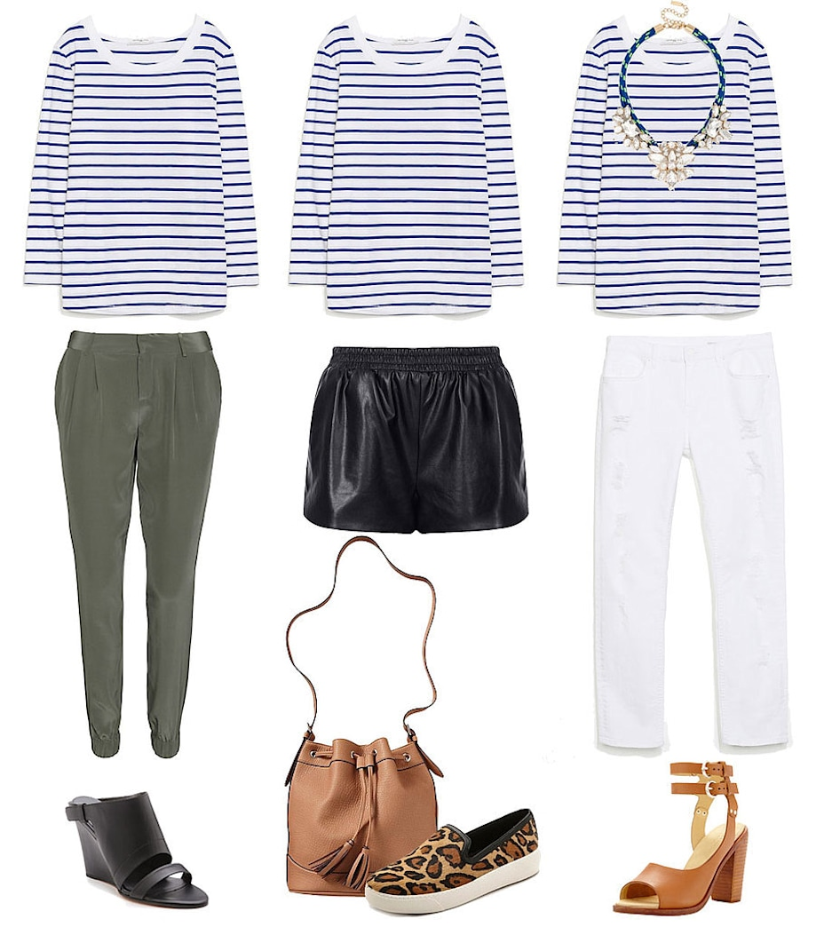 1 striped tee, 3 perfect ways to wear it
