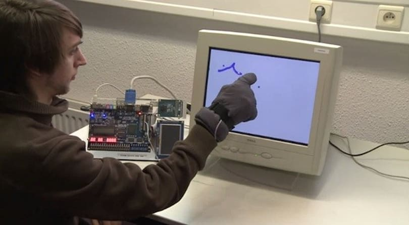Glove-based CRTouch project turns old monitors into touchscreens
