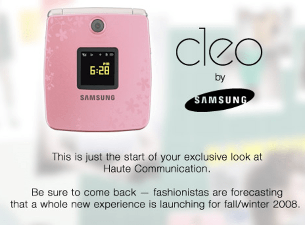 Compact Samsung CLEO gets teased in pink