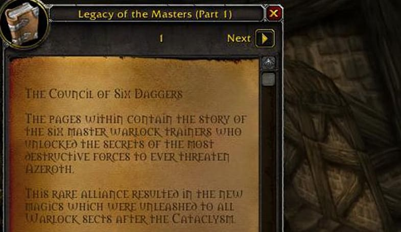 Mists of Pandaria: Learn new lore from in-game book Legacy of the Masters