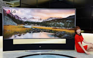 LG's 105-inch, 21:9 curved UHD TV is wide enough to be a tanning bed