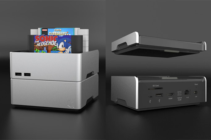 This stackable media hub plays your old 16-bit game cartridges