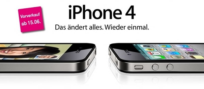 iPhone 4 hits T-Mobile Germany in June, three Canadian carriers in July