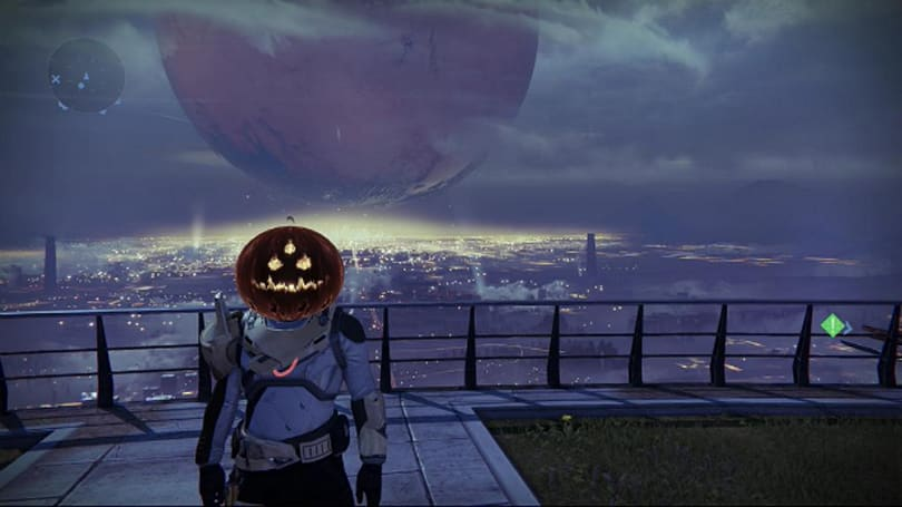 Destiny hollows out some pumpkins for Halloween treat