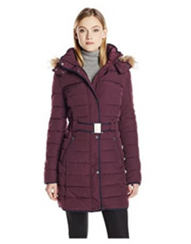 Tommy Hilfiger Long Belted Down Coat