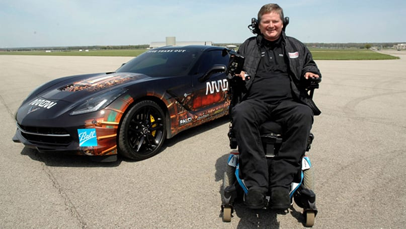 Quadriplegic racer will drive a Corvette using only his head