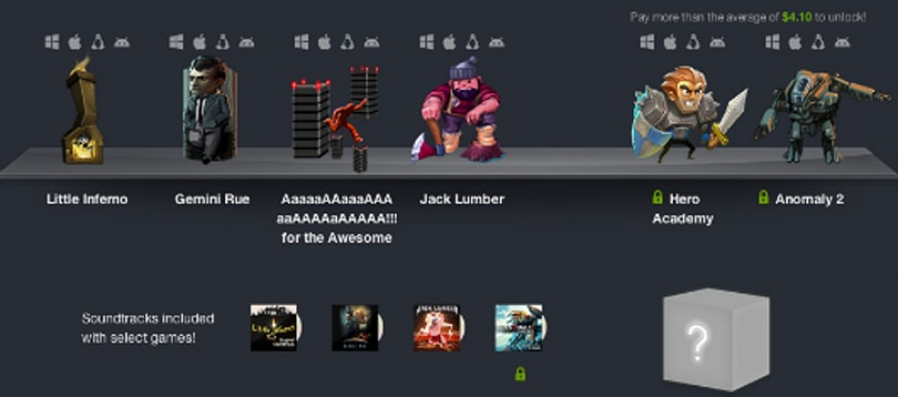 Humble Bundle 8: Jack Lumber, Aaaaa!!!, Little Inferno, Gemini Rue