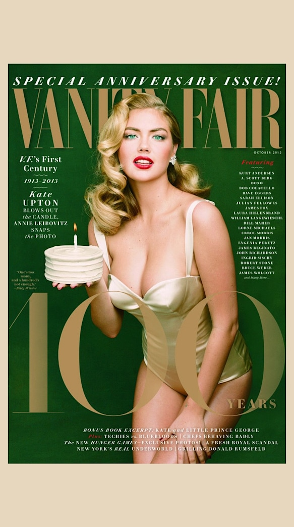 Kate Upton channels Marilyn Monroe on Vanity Fair's 100th anniversary issue