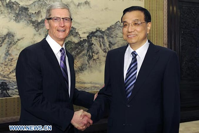 Tim Cook meets Chinese Vice Premier in Beijing, talks IP law, worker rights