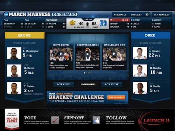 CBS & Turner Sports are streaming all the March Madness games to PCs, iPhones & iPads for free