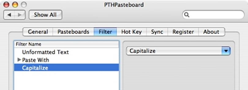 PTHPasteboard Pro: multiple clipboards and text filtering