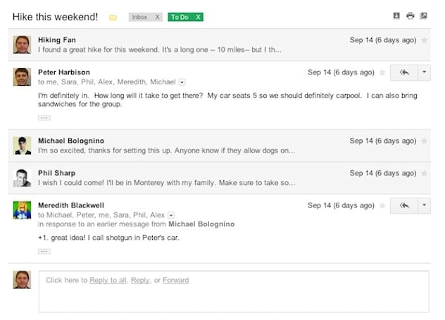 Google rolls out new look for Gmail: streamlined conversation view, high-res themes, better search