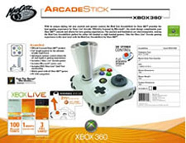 Xbox Live Arcade Stick priced at $50, includes games