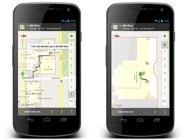 Google Maps for Android takes you inside with improved walking directions