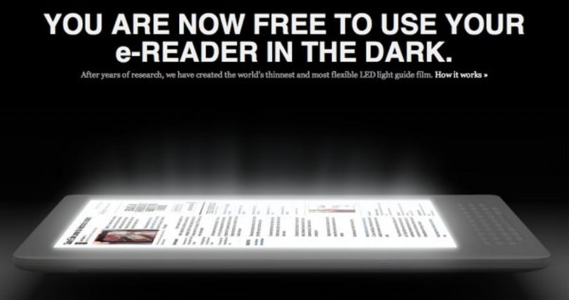 Flex Lighting's LED film will brighten your e-reader, mood (video)