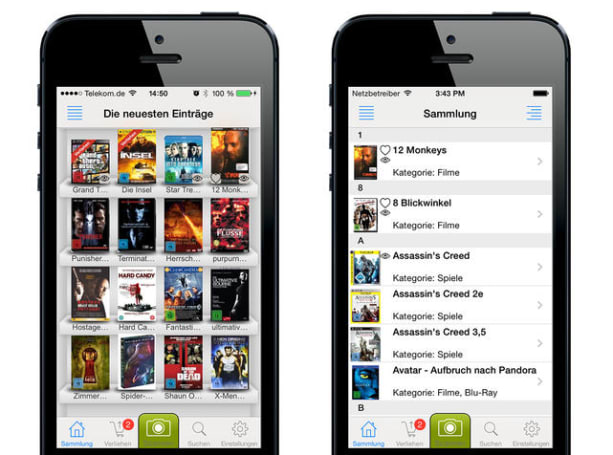 Fantastic Library lets you easily catalog books, movies, music and games