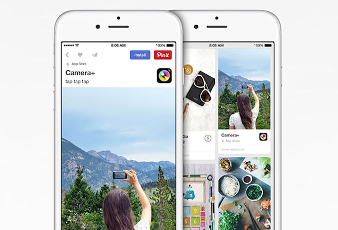 Pinterest adds button that installs apps straight from iTunes