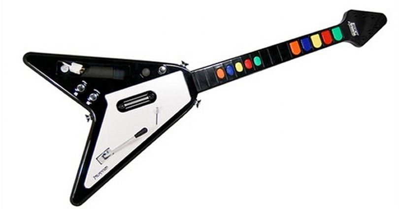 New guitar controller compatible with Rock Band, Guitar Hero, metal