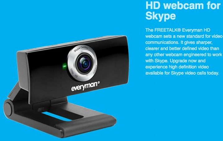Freetalk Everyman HD webcam up for pre-order at Skype store