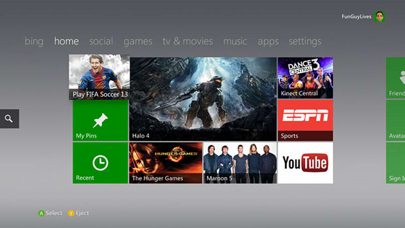 Xbox 360 Dashboard update hands-on (fall 2012)