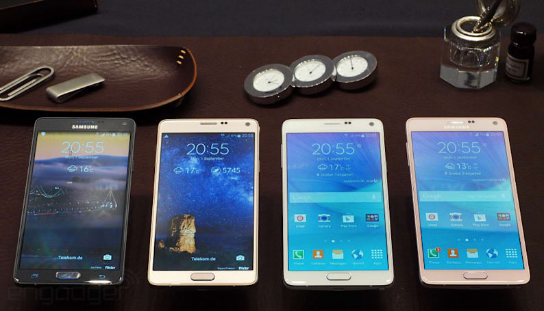 The Samsung Galaxy Note 4 looks and feels like a premium device (hands-on)