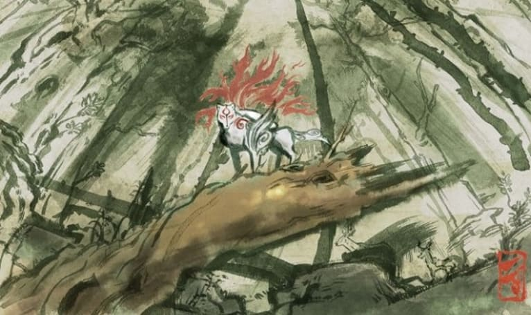 Okami prints now available, celestial brush not included