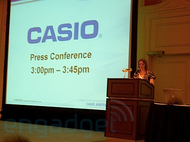 Almost live coverage of Casio's press conference