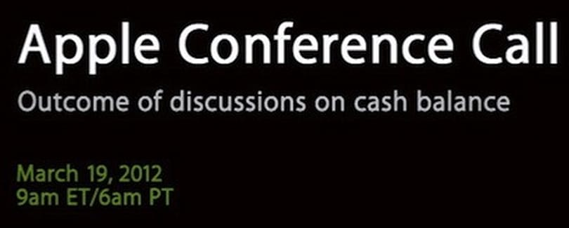 Apple hosting conference call on March 19 to discuss cash balance