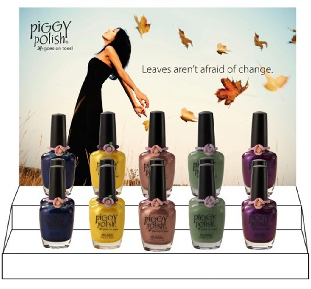 Perfect for a pedicure: new fall nail colors from Piggy Polish