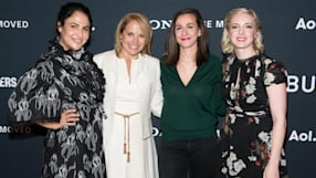 Katie Dippold, Jenni Konner, Lucia Aniello with Katie Couric On The Growth Of Female Influence Within The Industry