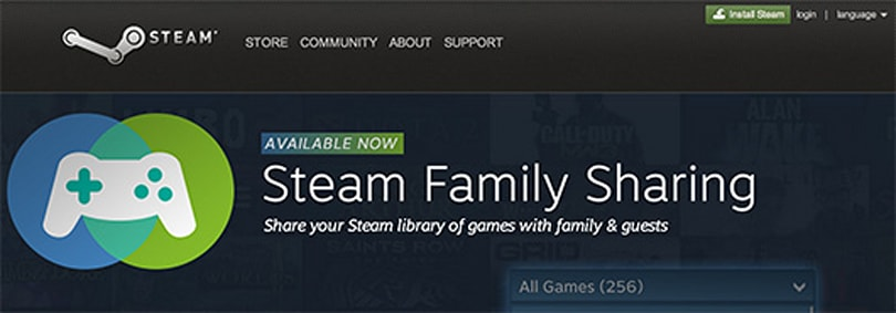Steam Family Sharing exits beta, now available to all