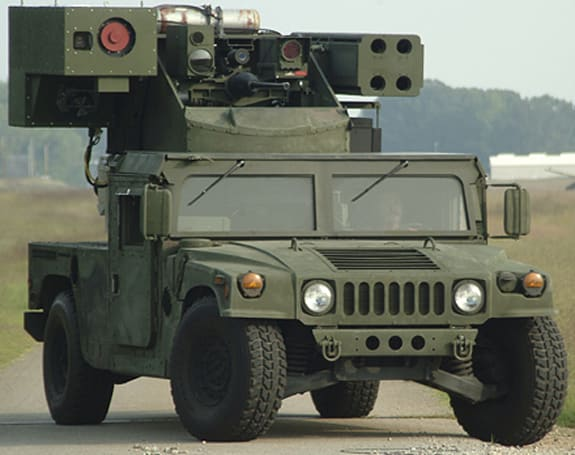 Pictures of Boeing's Humvee-mounted Laser Avenger