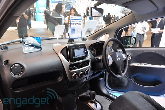 Clarion MiND MID handles infotainment duties in i MiEV electric car