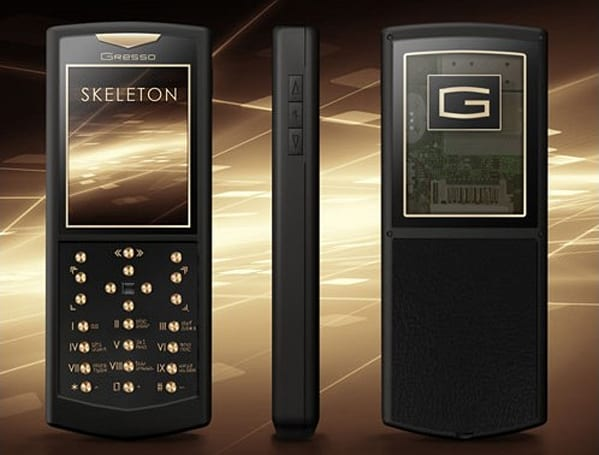 Gresso Skeleton Gold Phone is oddly beautiful, very transparent