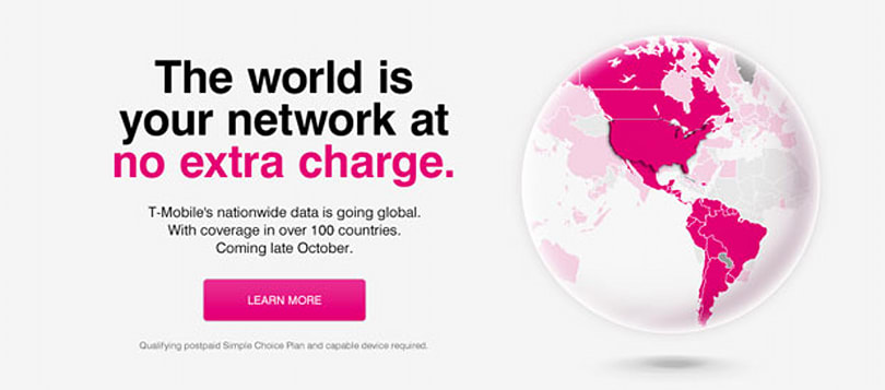 T-Mobile teases global data roaming plans via its official site