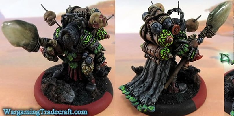 Hordebloods miniatures customizer has WoW in his blood