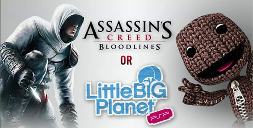 Age determines PSP Go buyers' free game option: LBP or Assassin's Creed