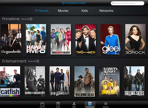 Time Warner Cable TV app for iOS now streams video on demand