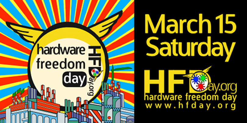 Today is Hardware Freedom Day, go learn how to build stuff